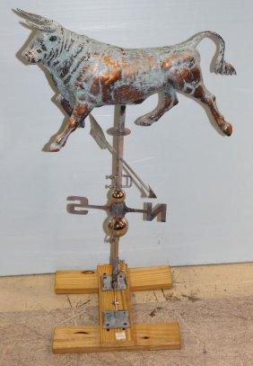 New Copper Bull Weathervane