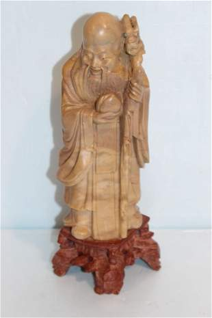 Carved Soapstone of Immortal Figure
