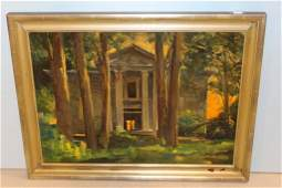 "Marshall Bouldin Oil on Canvas of ""Rowan Oak"""
