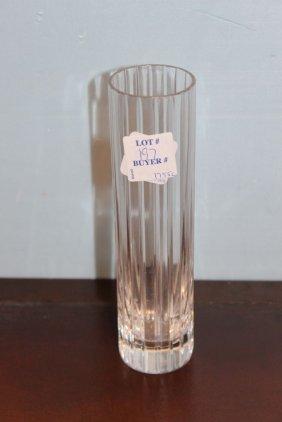 Baccarat Cylinder Vase