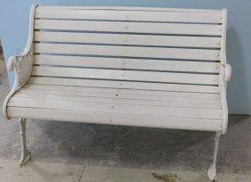 White Cast Iron Bench