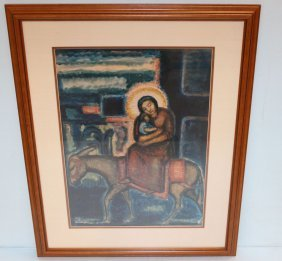 Marie Hull Print Of Madonna And Child