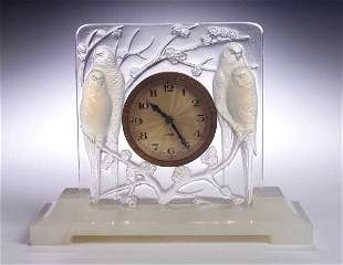 'Enseparables', a Lalique clear, frosted and opalesc