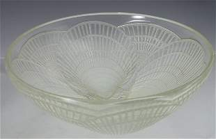 'Coquilles', a Lalique clear and opalescent glass b