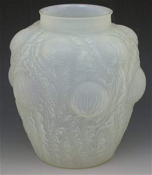 'Domremy', a Lalique frosted and opalescent glass v
