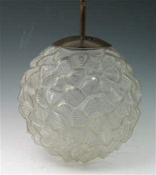 'Provence', a Lalique clear and frosted glass plafo