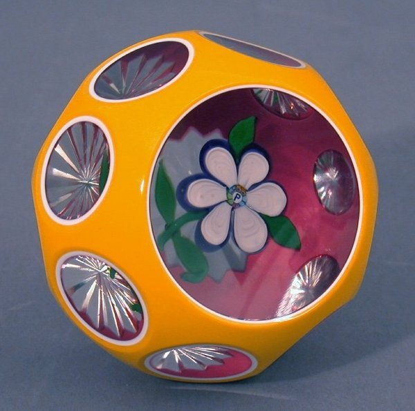 8: A Perthshire glass paperweight, with six p