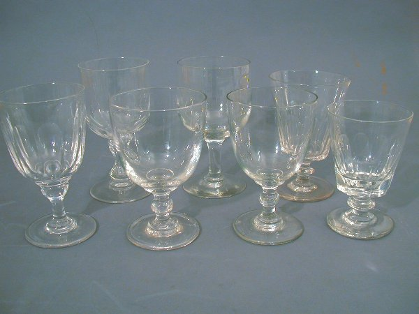 9: A collection of 19th century glass rummers