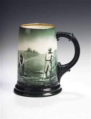 An early 20th century Lenox pottery tankard,