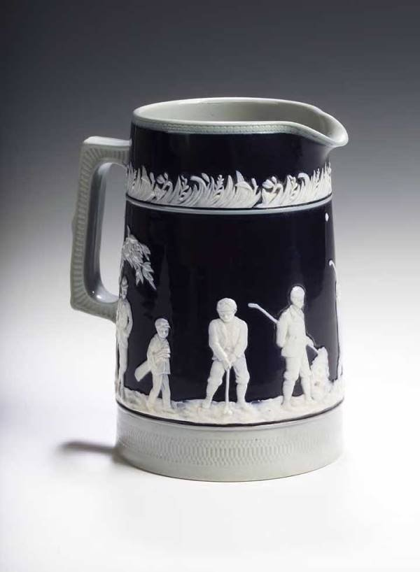 2: A 19th century Copeland late Spode golfing jug,
