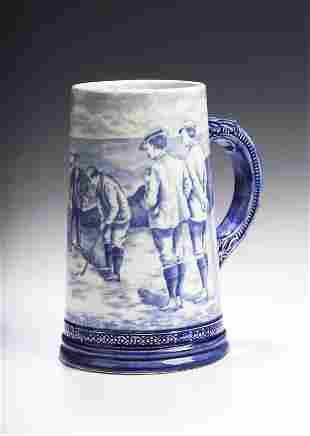 An early 20th century Royal Bonn pottery tankard,