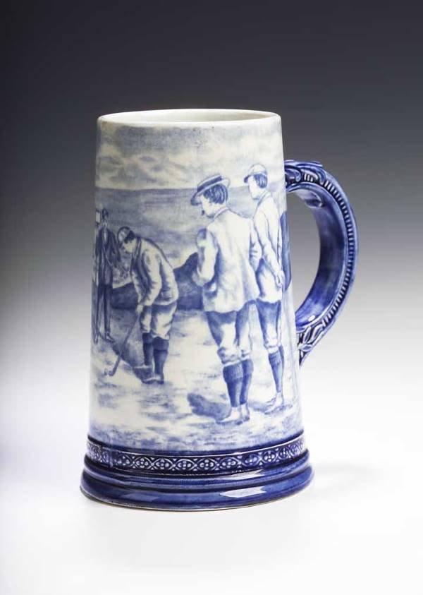 3: An early 20th century Royal Bonn pottery tankard,