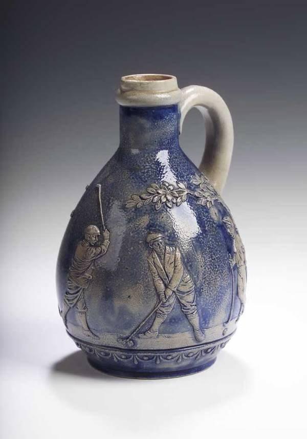 4: An early 20th century Gerz salt glazed stoneware bee