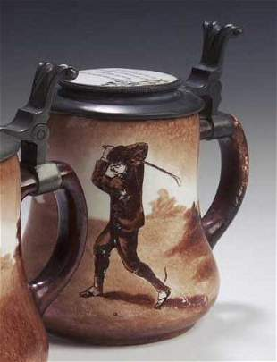 An early 20th century O'hara Dial Co. pottery stein,