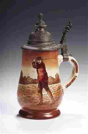An early 20thcentury Hohr-Grenzhausen pottery stein,