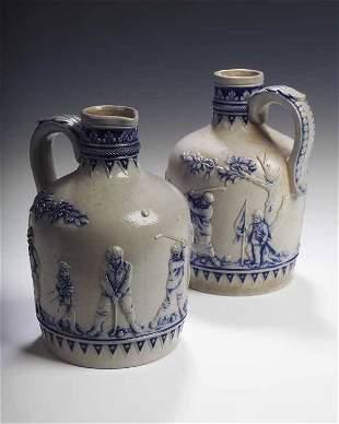 An early 18th century Gerz salt glazed stoneware be