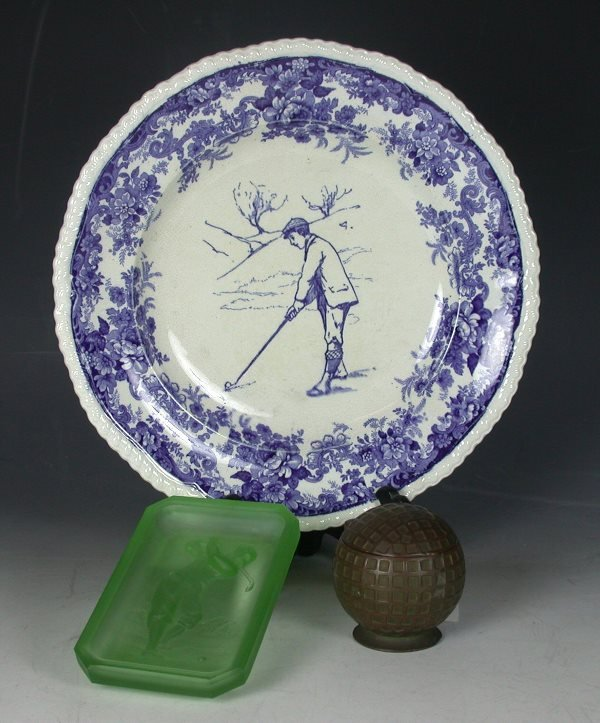 17: A Minton, England, pottery plate,