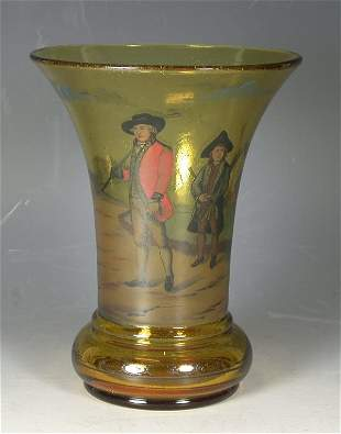 A Continental amber glass vase,