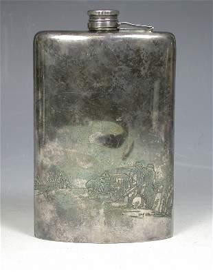 A Meriden Silver Plate Co. spirit flask,