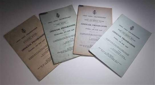 329: A 1946 Official Open Championship programme,
