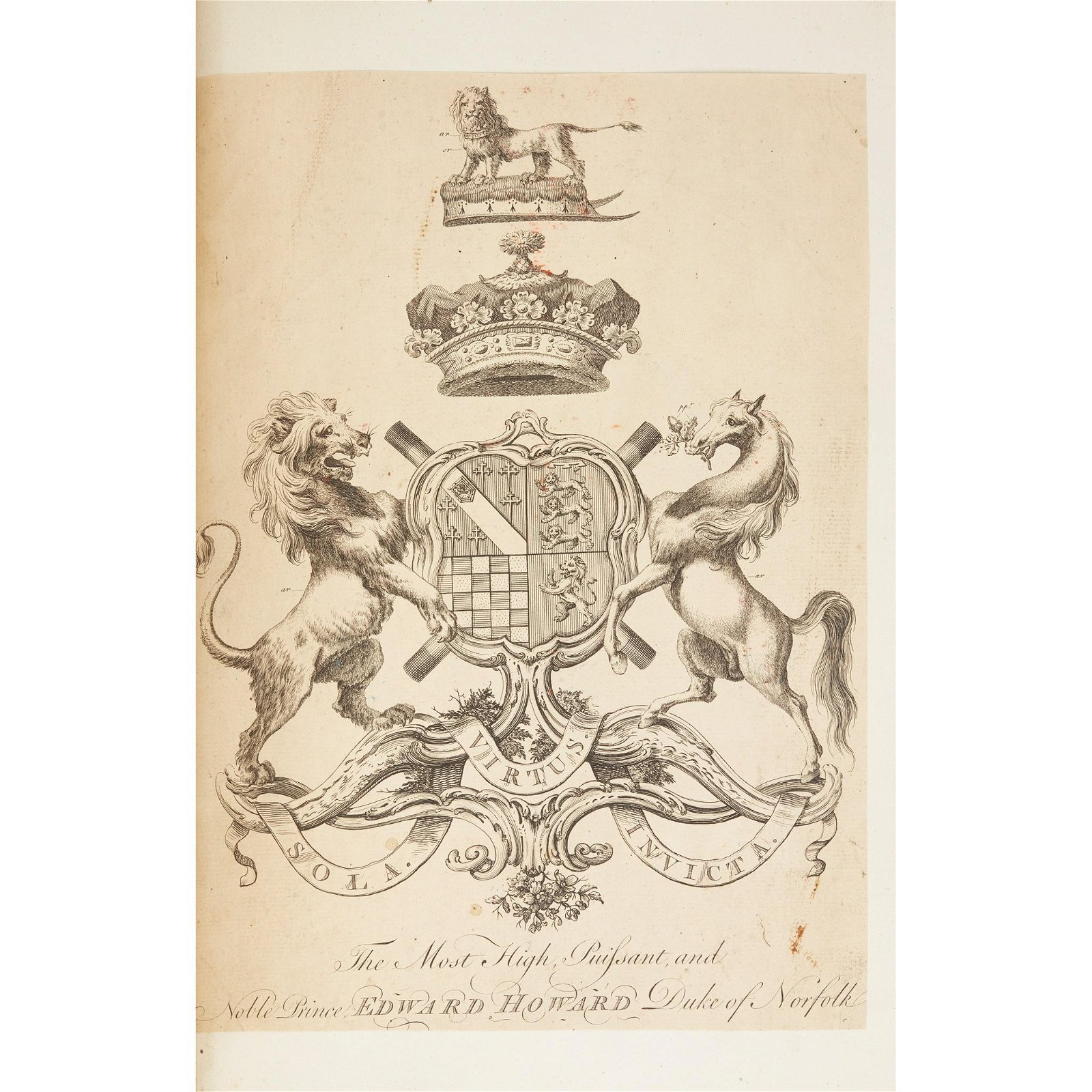 Engraved coats-of-arms 4 large volumes of cut