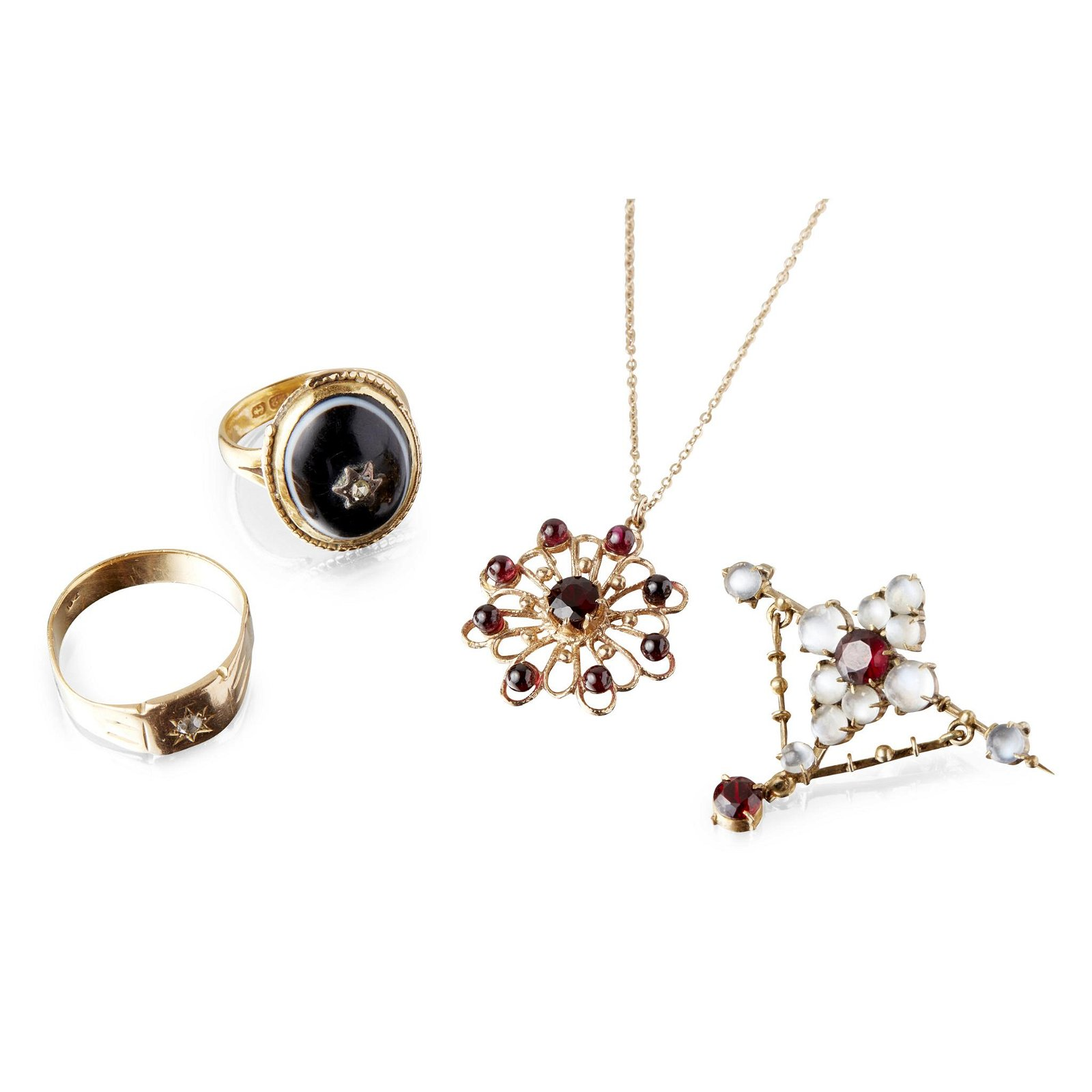A collection of gem set jewellery