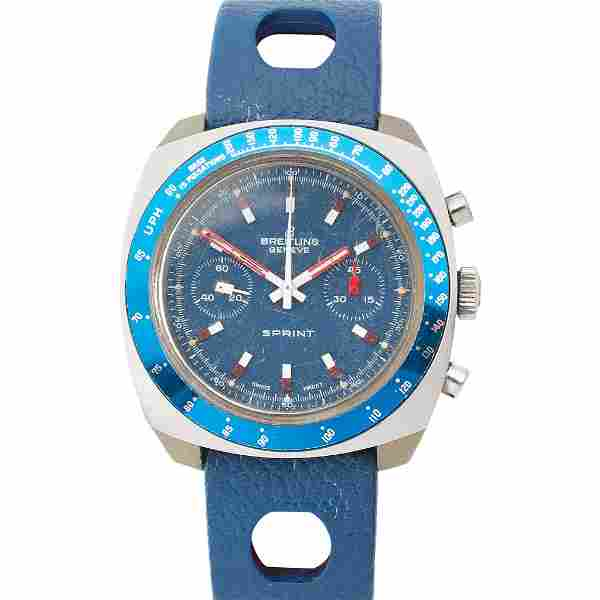 A gentleman's stainless steel cased chronograph,