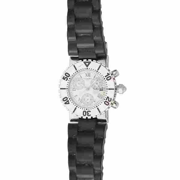 A unisex stainless-steel cased chronograph, Chaumet