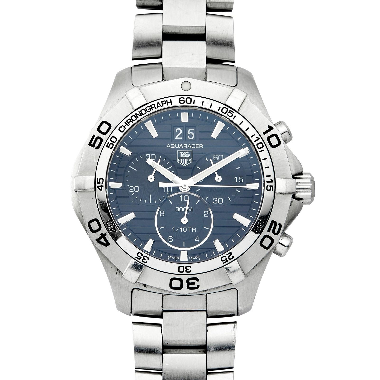A gentleman's stainless-steel chronograph, Tag Heuer