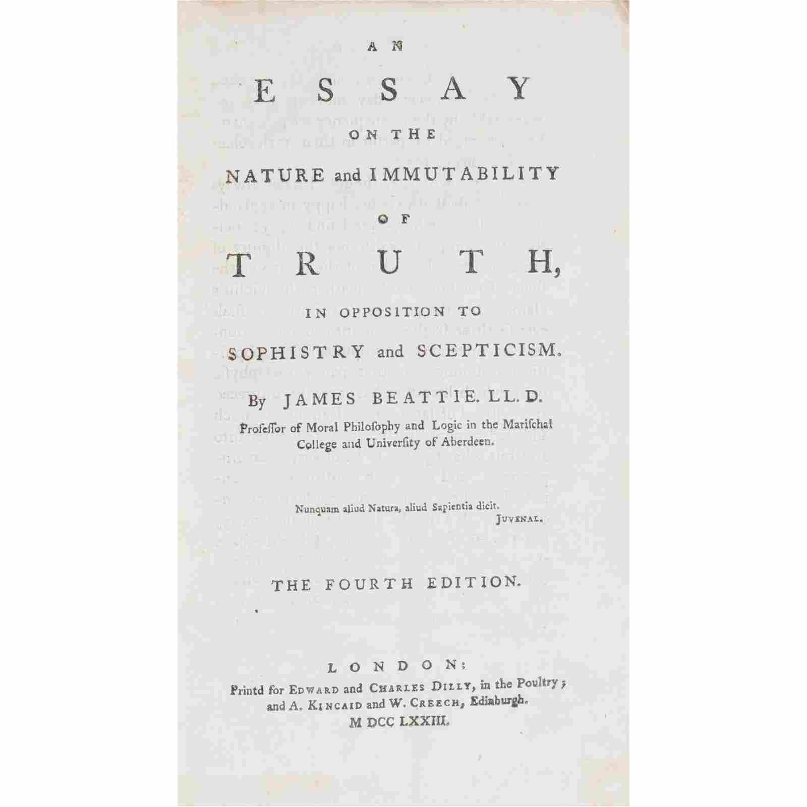 Hume, David, and others 5 Philosophical Works