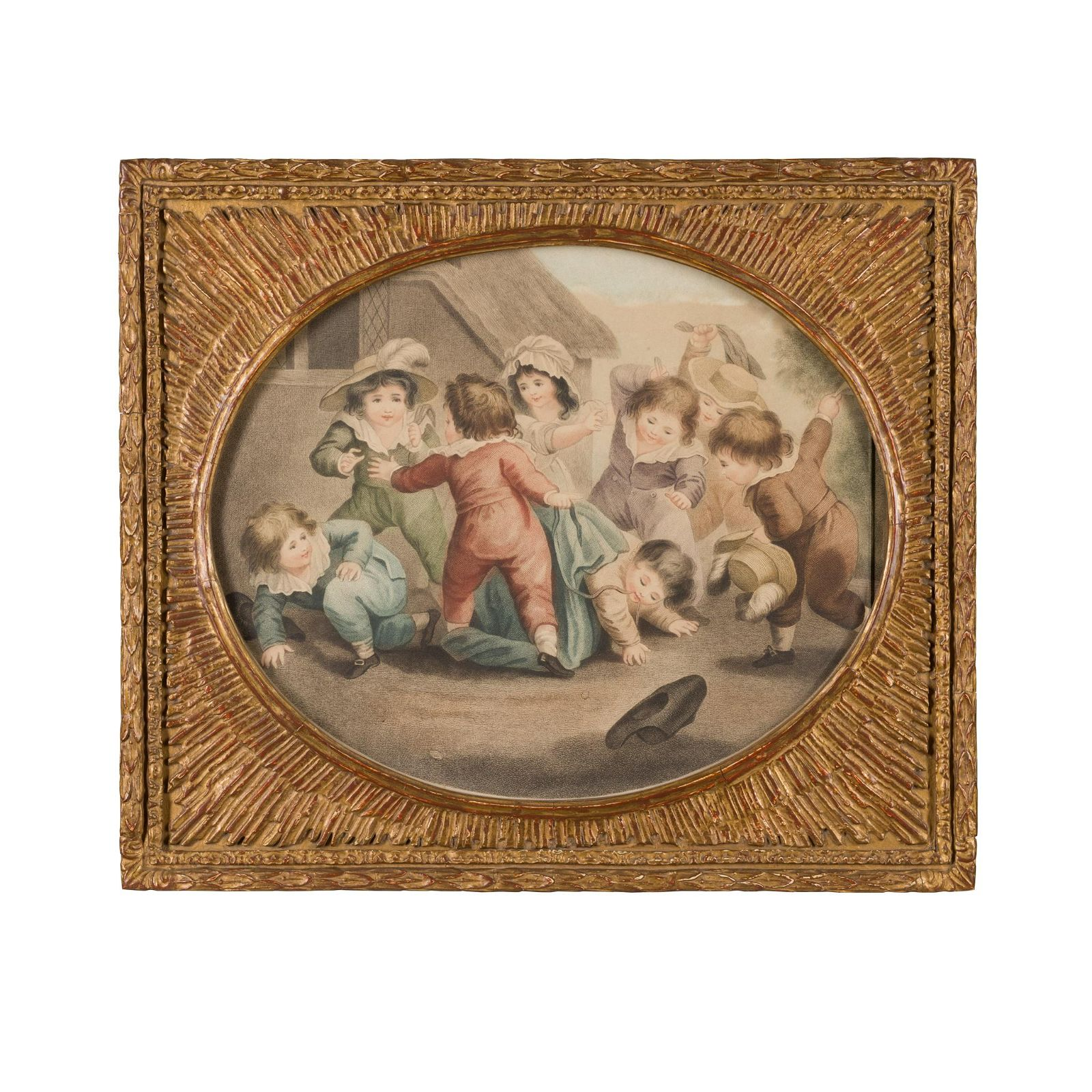 18TH CENTURY ENGLISH SCHOOL CHILDREN AT PLAY
