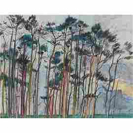 § DUNCAN SHANKS R.S.A., R.S.W. (SCOTTISH B.1937) TREE