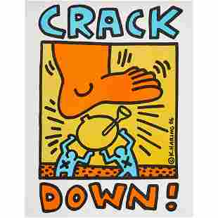 KEITH HARING (AMERICAN 1958-1990) CRACK DOWN - 1986