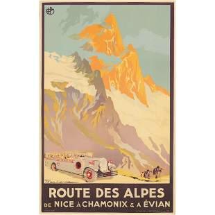 Julien Lacaze (1886-1971) Route des Alpes