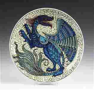 135: William de Morgan (1839-1917)   A large circular c