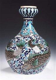 152: A large and impressive Burmantofts faience vase, l