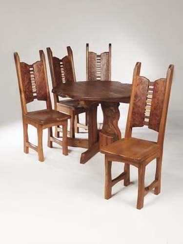 451: Tim Stead (1952-2000) An burr elm dining room suit