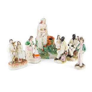 COLLECTION OF THOMAS PARR STAFFORDSHIRE FIGURES 19TH