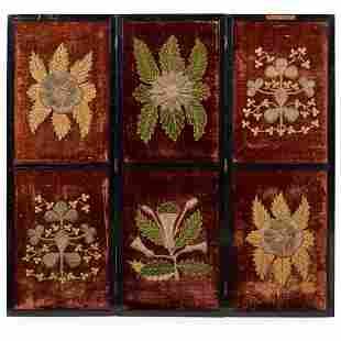 VICTORIAN COLONIAL INDIA INTEREST, VELVET EMBROIDERED
