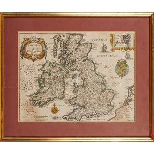 A collection of framed maps Four maps, comprising