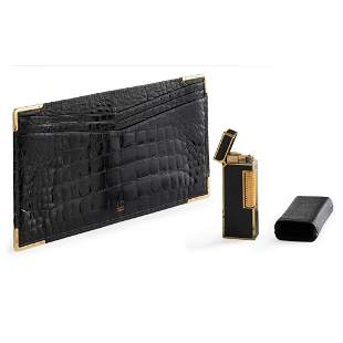 A gentleman's note wallet and lighter, Dunhill