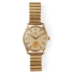 Omega: a gentleman's gold wrist watch