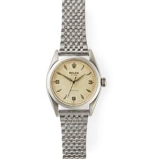 Rolex: a gentleman's stainless steel wrist watch