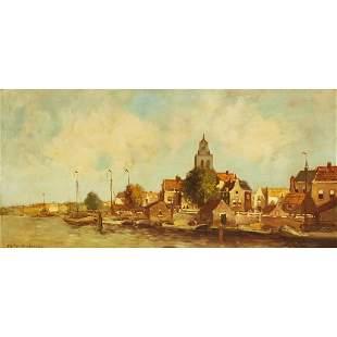 JOHAN HENDRIK VAN MASTENBROEK, AFTER A DUTCH CANAL-SIDE