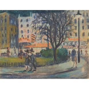 ATTRIBUTED TO FREDERICK GORE STREET SCENE, PARIS