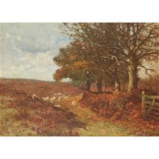 JOHN WILLIAM ALLISON (BRITISH 1886-1934) SHEPHERD AND