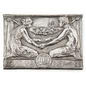 § GILBERT BAYES (1872-1953) MARRIAGE PLAQUE, DATED