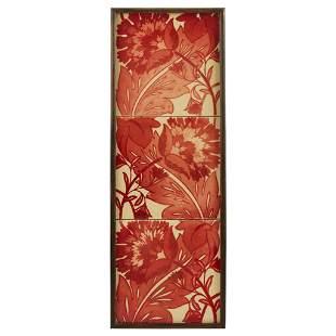 WILLIAM DE MORGAN (1839-1917) RUBY LUSTRE 6-INCH TILE