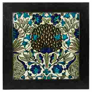 WILLIAM DE MORGAN (1839-1917)  9-INCH 'PERSIAN' TILE,