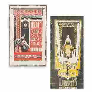 LIBERTY & CO., LONDON TWO DESIGNS FOR LIBERTY FABRICS